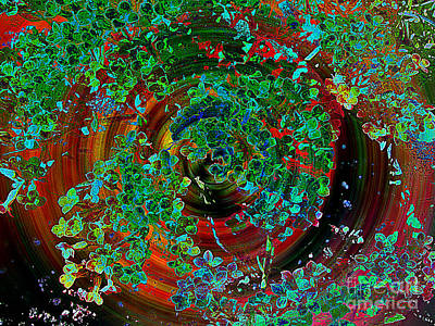 Photograph - Swirling Leaves - Digital Computer Painting by Merton Allen