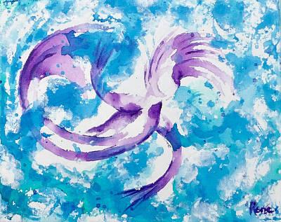 Painting - Swirling Mermaid by Kathryn Rone