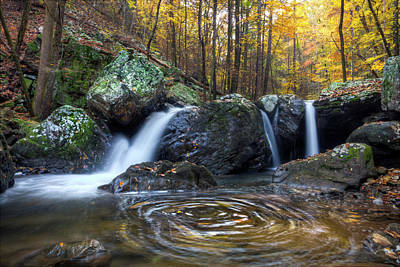 Photograph - Swirling Pools Under The Waterfall by Debra and Dave Vanderlaan