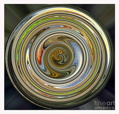 Red Digital Art - Swirling Sphere by Jim Fitzpatrick