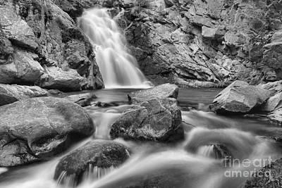 Photograph - Swirls Below Falls Creek Falls Black And White by Adam Jewell