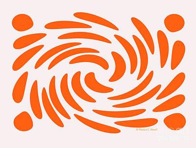 Digital Art - Swirls N Dots S5 by Monica C Stovall