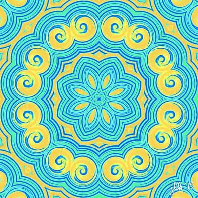 Digital Art - Swirls Of Delight by Lori Kingston