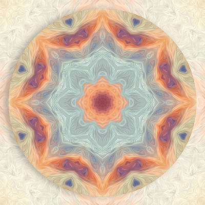 Digital Art - Swirls Of Love Mandala by Beth Sawickie
