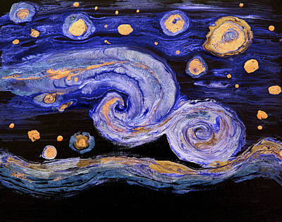 Painting - Swirly Switly Night by Patricia Beebe