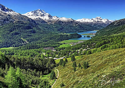 Photograph - Swiss Alps And Lake by David A Lane