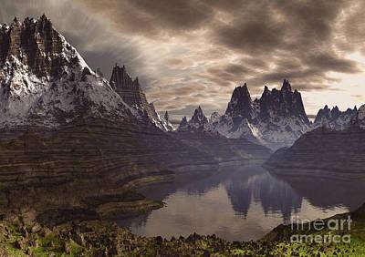 Swiss Mixed Media - Swiss Alps  by Heinz G Mielke