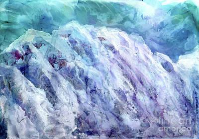 Swiss Mixed Media - Swiss Alps - My Interpretation by Eunice Warfel