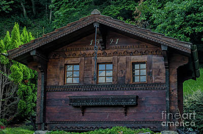 Photograph - Swiss Chalet by Michelle Meenawong