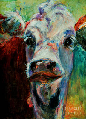 Painting - Swiss Cow - 1 by David  Van Hulst