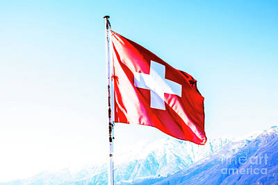 Photograph - Swiss Flag by Mats Silvan