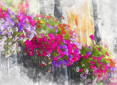 Photograph - Swiss Flowerboxes  by TK Goforth