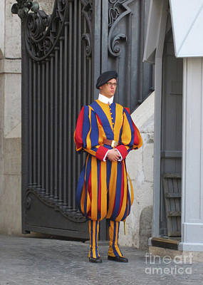 Photograph - Swiss Guard Vatican by Rudi Prott
