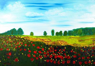 Painting - Swiss Poppies by Valerie Ornstein