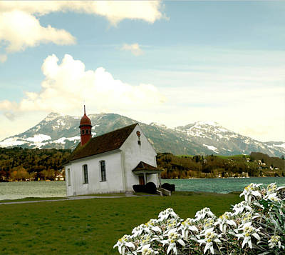 Switzerland Mixed Media - Swiss Spring Version 3 by Chuck Shafer