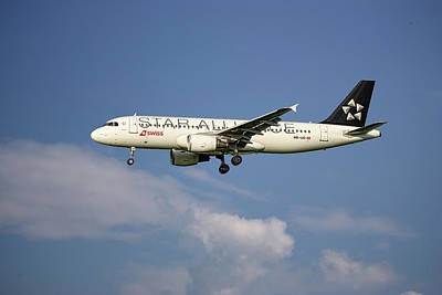 Mixed Media - Swiss Star Alliance Livery Airbus A320-214 8 by Smart Aviation