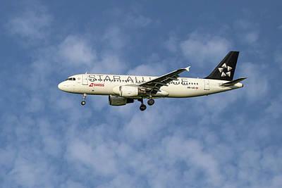 Swiss Star Alliance Livery Airbus A320-214 5 Art Print