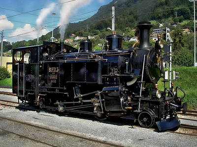 Photograph - Swiss Steam Locomotive by Anthony Dezenzio
