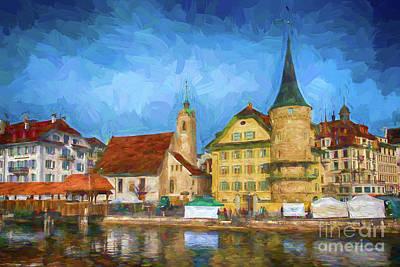Swiss Town Art Print