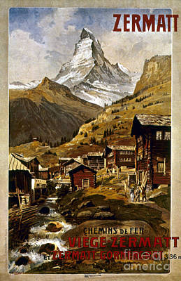 Swiss Travel Poster, 1898 Art Print by Granger