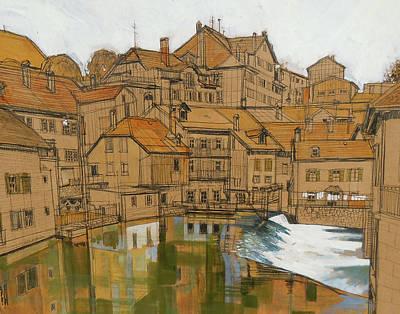 Swiss Mixed Media - Swiss Trout Stream by Rich Richardson