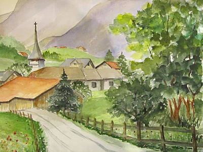 Swiss Village Art Print