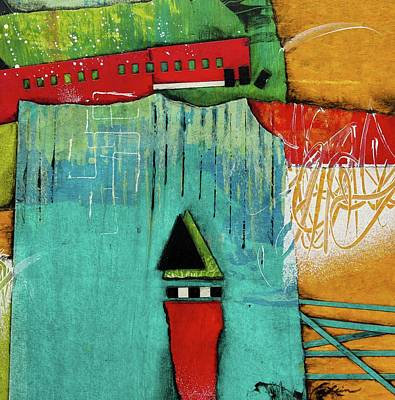 Turquoises Mixed Media - Switch It Up by Laura Lein-Svencner