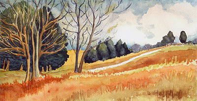 Indiana Landscapes Painting - Switchboard Rd by Katherine Miller