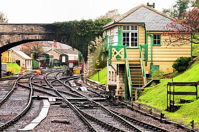 Photograph - Switching Tracks At The Swanage Station by Phyllis Taylor