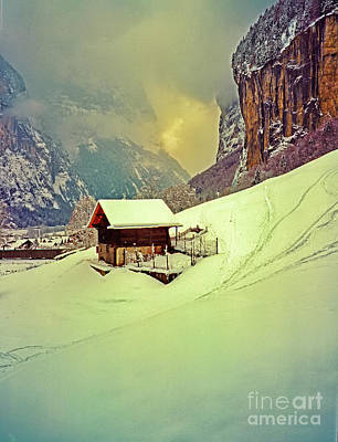 Photograph - Switzerland Alps Grutschap Alpine Meadow Winter  by Tom Jelen