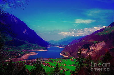Photograph - Switzerland Alps Lake  Spring by Tom Jelen
