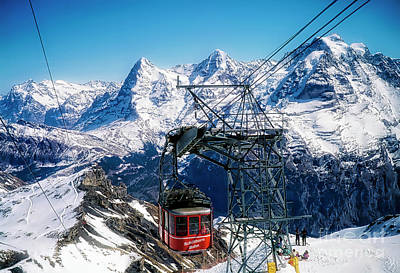 Photograph - Switzerland Alps Schilthorn Bahn Cable Car  by Tom Jelen