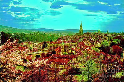 Photograph - Switzerland Bern City View Matte Aare River    by Tom Jelen
