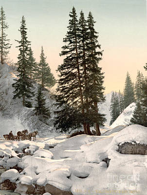Switzerland Painting - Switzerland: Davos, C1895 by Granger