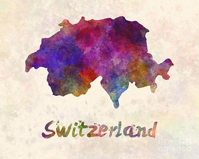 Switzerland Painting - Switzerland In Watercolor by Pablo Romero
