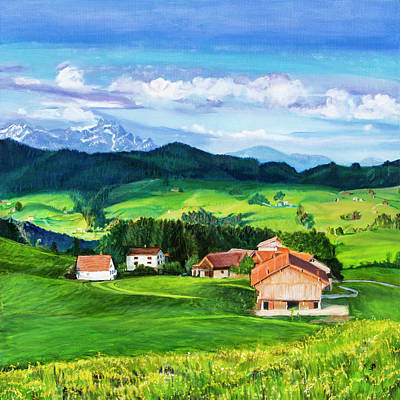 Painting - Switzerland by Sharon Bignell