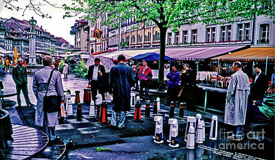 Photograph - Switzerland,street, Chess, Swiss  by Tom Jelen