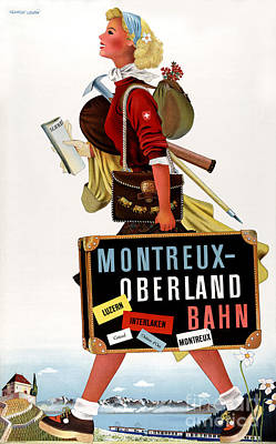 Collectible Mixed Media - Switzerland Vintage Travel Poster by Carsten Reisinger