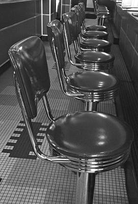 Stools And Counter Photograph - Swivel Stools 1 by Denise Mazzocco