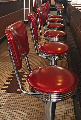 Photograph - Swivel Stools by Denise Mazzocco