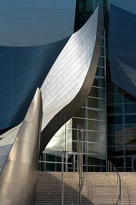 Photograph - Swoops And Lines Of Disney Hall by Lorraine Devon Wilke