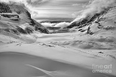 Photograph - Swoosh In The Drift Black And White by Adam Jewell