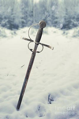 Snow-covered Landscape Photograph - Sword by Amanda Elwell