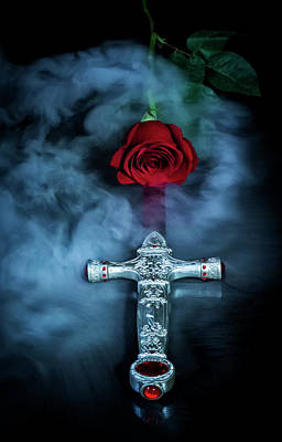 Photograph - Sword And Rose by Eleanor Caputo