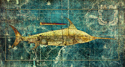 Swordfish Mixed Media - Sword Fish by Skint Fish
