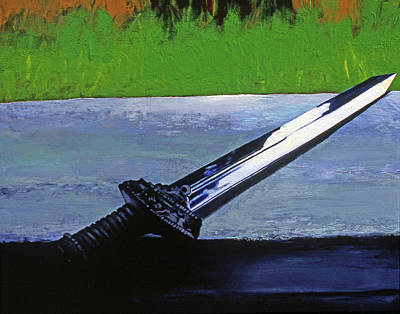 Sword Of Protection  Print by Rene Capone