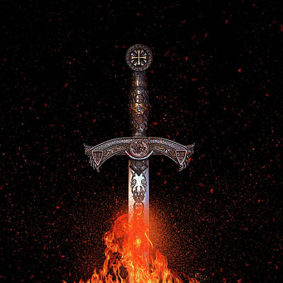 Photograph - Sword On Fire by Paulo Goncalves