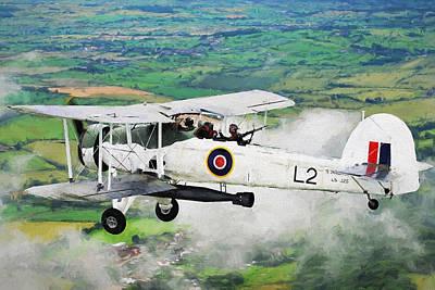 Bi Plane Digital Art - Swordfish Aircraft 2 by Roy Pedersen
