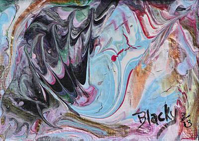 Painting - Swordfish Breaching by Donna Blackhall