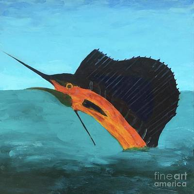 Painting - Swordfish by Donald J Ryker III